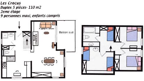 Plan appartement Les Crocus