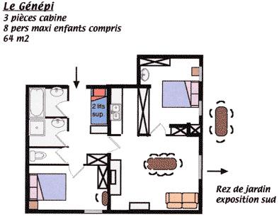 Plan de l'appartement Le Génépi