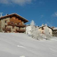 Vue hiver appartement Les Marguerites