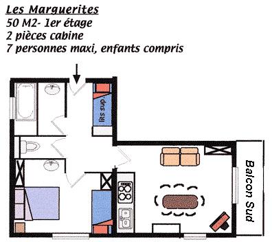 Plan appartement Les Marguerites