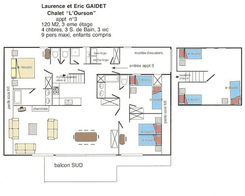 Plan appartement Ourson 3