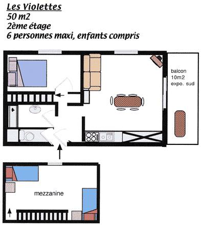 Plan appartement Les Violettes